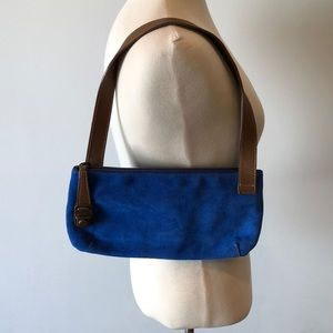 Beautiful blue suede purse from Argentina